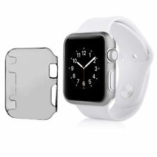 2 Pack Crystal Hard Snap-in Case Cover For Apple Watch Series 1 42mm Clear Black
