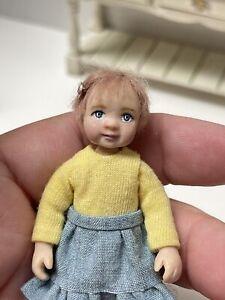 Artisan EMILY CHAN Little Girl Poseable & Precious! Dollhouse Miniature 1:12