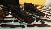 Vans Skateboard Shoes Fuzzy Lined High Top Decent Condition Mens Size 7