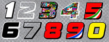 NUMEROS COURSE RACING NUMBERS BOMB DRIFT TUNING AUTOCOLLANT STICKER (NU002)