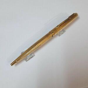 Vintage Parker 75 Barleycorn Gold Plated Ball Pen Made In France