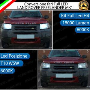 CONVERSIONE FARI LED LAND ROVER FREELANDER MK1 LED H4 + LED POSIZIONE T10 6000K