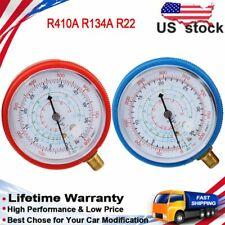 R410A R134A R22 Air Conditioner Refrigerant Low High Pressure Gauge PSI KPA R/ B