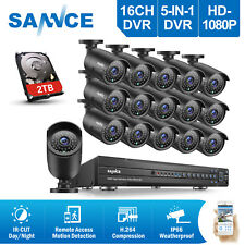 SANNCE 16CH HD 1080P Video DVR Outdoor 2MP Home Security Camera CCTV System 2TB