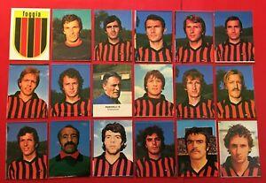 LOTTO DI 18 FIGURINE CALCIATORI LAMPO 1977-78 SQUADRA COMPLETA FOGGIA