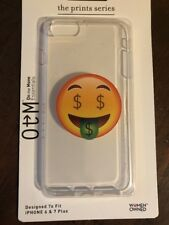 On The Move Essentials ~ Clear Case Money Face Emoji Print iPhone 6, 6s, & 7