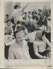1973 Rescued MEA Plane Passengers After Hijacking in Lod Israel Press Photo