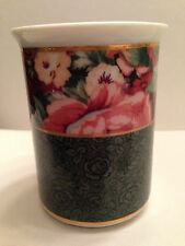 "Saturday Knight Ltd Toothbrush Holder Freestanding 4 Hole Peony Floral 3.5"" Rare"