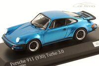 1:43 MINICHAMPS 1975 PORSCHE 911 (930) Turbo 3.0 minerva blue 200 cartima EXCL.