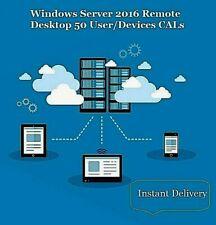 License Windows Server 2016 Remote Desktop Services RDS 50 User/Devices CALs