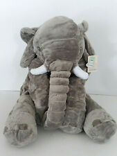 "MorisMos Stuffed Elephant Plush Toy Gray 26"" Kids Baby Gift  Super Soft Floppy"