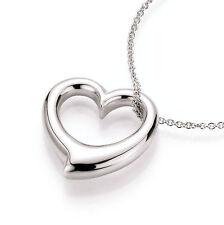Echte Edelmetall-halsketten ohne Steine aus Sterlingsilber mit Liebe & Herzen