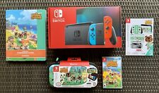 Nintendo Switch 32GB Console Joy Con Animal Crossing Game Case Book AC Bundle