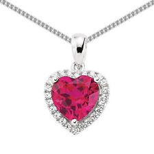 Gioielli di lusso con cuore in argento zircone