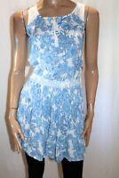 DOROTHY PERKINS Brand Blue Floral Print Lace Sleeveless Dress Size 8 BNWT #SZ43