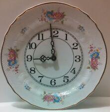 Hollohaza Hungary Porcelain Plate Clock