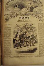 6 OEUVRES DE WALTER SCOTT /IVANHOE, LE MONASTERE,../ ED. FRERE / J.BRY AINE 1849