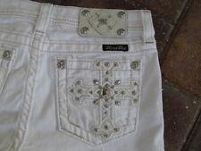 MISS ME White Jeans Shorts Girls sz 8 NWT VK5899D7 BLING POCKETS