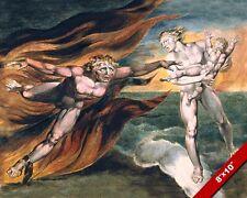 ANGEL VS DEVIL FOR SOUL OF CHILD GOOD V EVIL PAINTING CHRISTIAN ART CANVAS PRINT