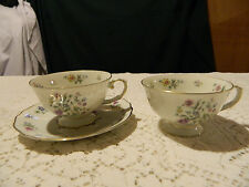 Franconia Milliefleurs (2) Teacups and (1) Saucer 1-3