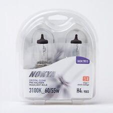 NOKYA Halogen Light Bulbs H4 HB2 9003 Crystal Clear 3100K S1 60/55W Hi/Low Beam