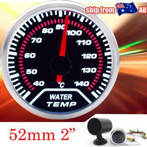 """52mm 2"""" Water Temp Gauge Mechanical Dials W/ Sensor Gauge Pod Mount Universal AU"""