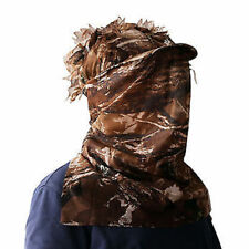 Brown Camo 3D Sneaky Leaf Cap With Facemask Woodland Camouflage Hat Hunting