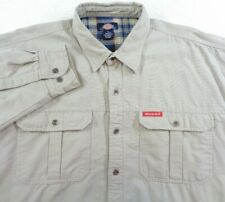 b76e30a4402 DICKIES FLANNEL LINED SHIRT Men s Size XL Long Sleeve 100% Cotton VGC  workwear
