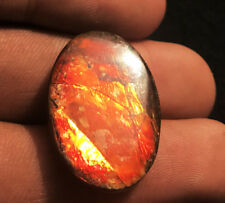 LOVELY 22.8 CARATS NATURAL CANADIAN AMMOLITE OVAL CABOCHON 24x16x5.2MM