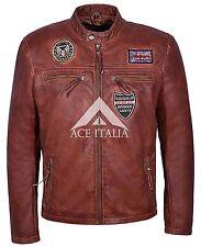Mens SQUADRON AVENGER INSPIRD Leather Jacket Biker Style 100% REAL NAPA 1457