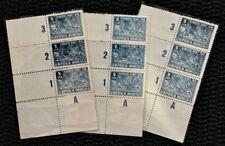 INDONESIA 1946 5 SEN INTERIM PERIOD 3 PCS BLOCK OF 3 PERFORATED MNH