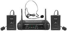 Pulse VHF Dual Lavalier and Headset Wireless Microphone System 173.8 175.0mhz