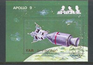 Yemen 1969 Apollo 9 Mi Block 102 Space  Used