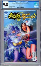 BATMAN '66 MEETS WONDER WOMAN '77 #1 CGC 9.8 ALEX ROSS RETRO 1960'S COVER 2017