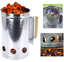 Chimney Charcoal Starter Lighting Kit Barbeque BBQ Grill Lighter Coal Burner