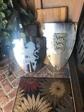Two Metal Shields. Cosplay, Ren Fair.