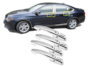 For 2014-2019 Chevrolet Impala Chrome Door Handle Cover Covers w/smart key hole