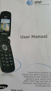 AT&T Samsung USER MANUAL SGH-a437 Series Portable Quad-Band Mobile Bklet 2007