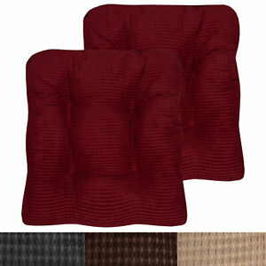 Fluffy Memory Foam Non Slip Chair Cushion Pad 2, 4, 6 or 12 Pack