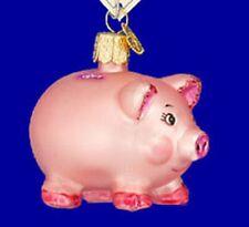 Old World Christmas PIGGY BANK (36061)N Glass Ornament w/OWC Box