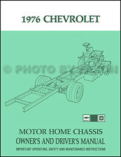 1976 Chevrolet Motor Home Chassis Owners Manual Chevy P30 Motorhome Owner Guide