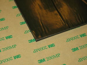 """SORBOTHANE SHEET 6X6x1/10"""" VIBRATION ISO RUBBER PAD SOFT 30D with 3M ADHESIVE"""