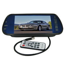2-CH IN 7Inch TFT LCD Widescreen MP5 Car Rear View DVD VCR Mirror Monitor SD USB