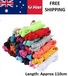 Flat Colorful Shoelaces Coloured Bootlace Sneaker shoe laces BULK Australia