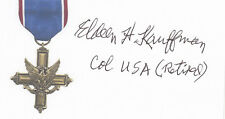 WWII DSC (2nd highest military decoration) Colonel Kauffman D-Day SIGNED CARD