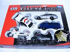 TOMICA Police Car Toyota HIACE/Subaru LEGACY/Honda VFR, Diecast 5 Cars Set TOMY