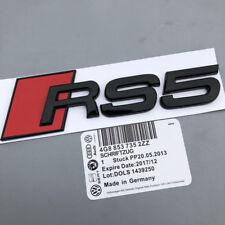 glossy black Audi RS5 Metal Badge Rear Boot Emblem S Line A 1 2 3 4 5 6 7 Q RS S