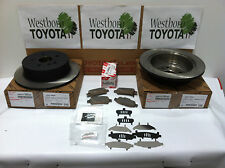 Toyota Sienna 2003-2010 Genuine OEM Rear Brake Rotors & OEM Pads and Shim Kit