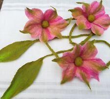 Filzgirlande, Blumenranke, Filzblüte, rosa