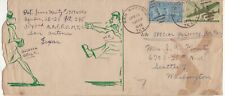 USA Special Delivery AIR MAIL 1946 cover from Texas with cartoon on cover